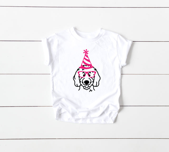 Birthday Pup Pawty Crewneck T-Shirt