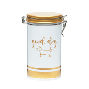 Large Furbaby Dog Metal Canister