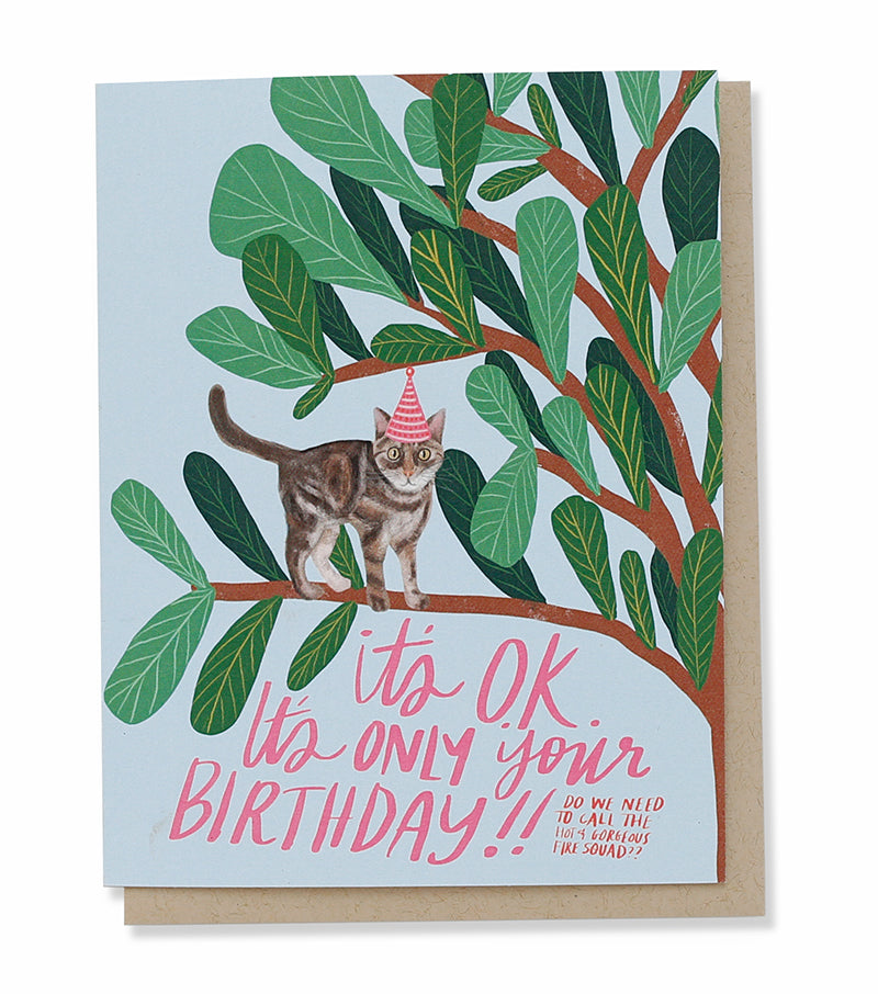 Thimblepress - Scaredy Cat Birthday Card
