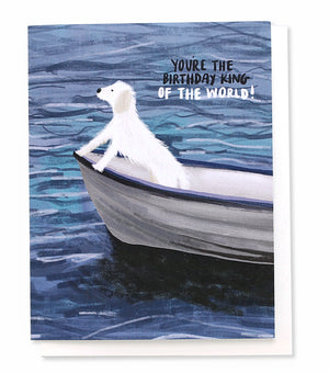 Thimblepress - Birthday King of The World Greeting Card