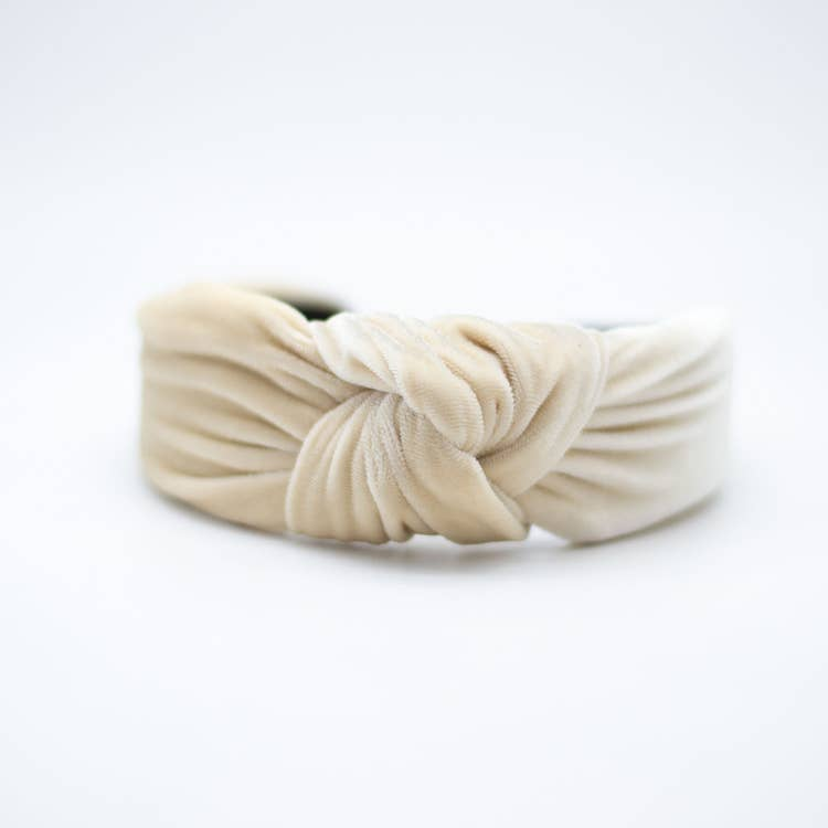 Knotted Headband - Fawn Velvet