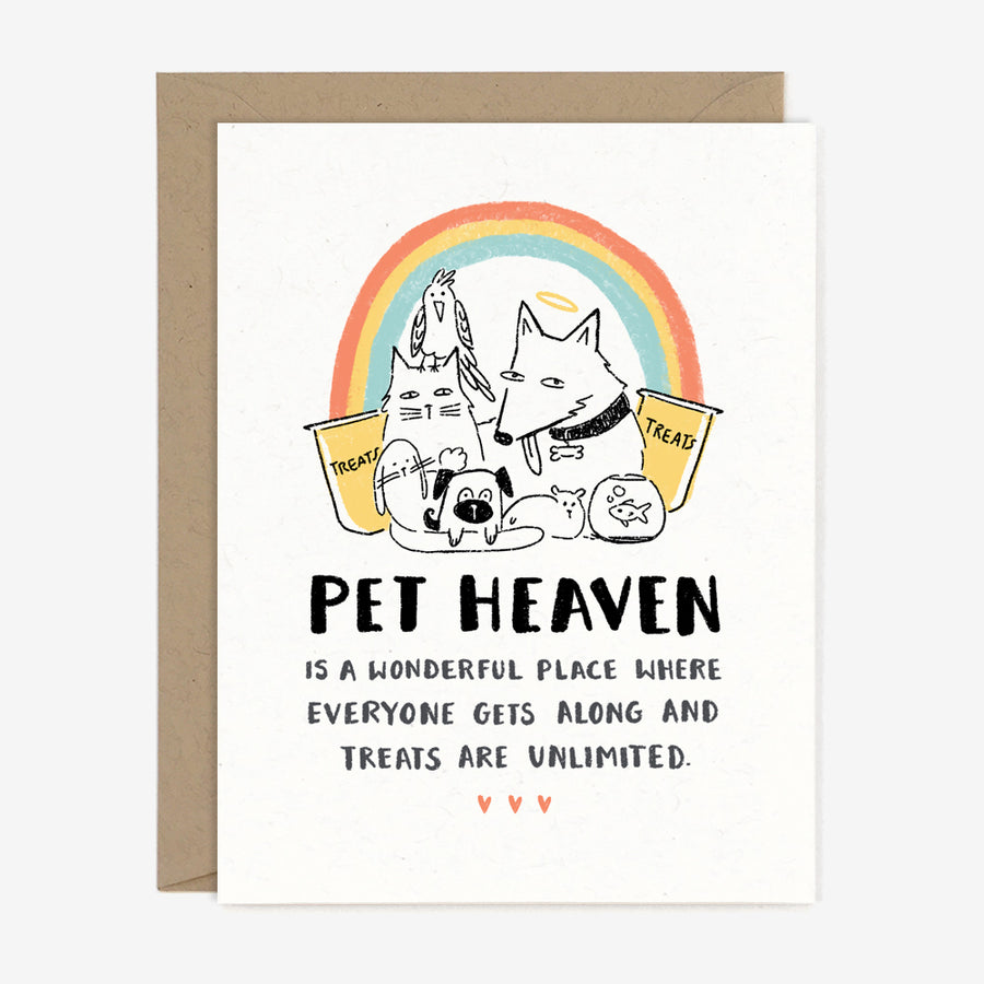 Pet Heaven Sympathy Card