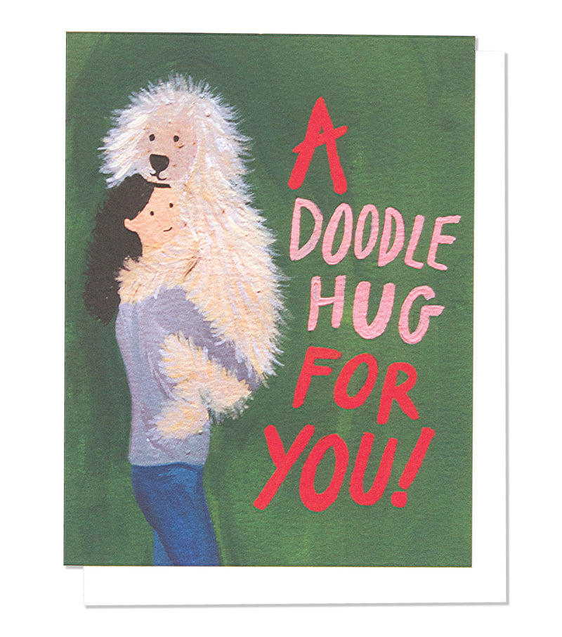 Thimblepress - Willow Doodle Hug Single Card