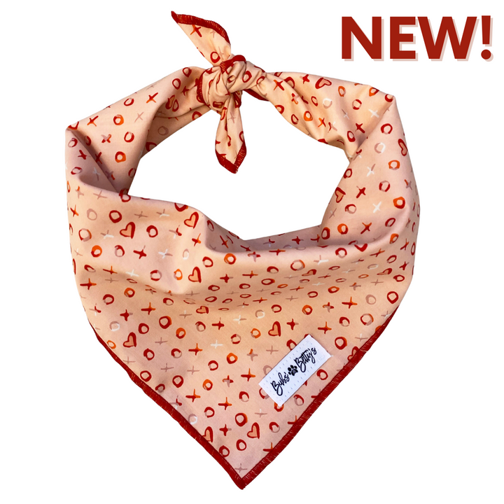Hugs + Kisses Dog Bandana