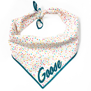 Teal Sprinkles Dog Bandana