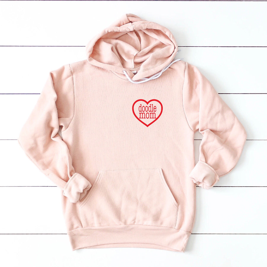 Doodle Mom Heart Pullover Hooded Sweatshirt - Customizable