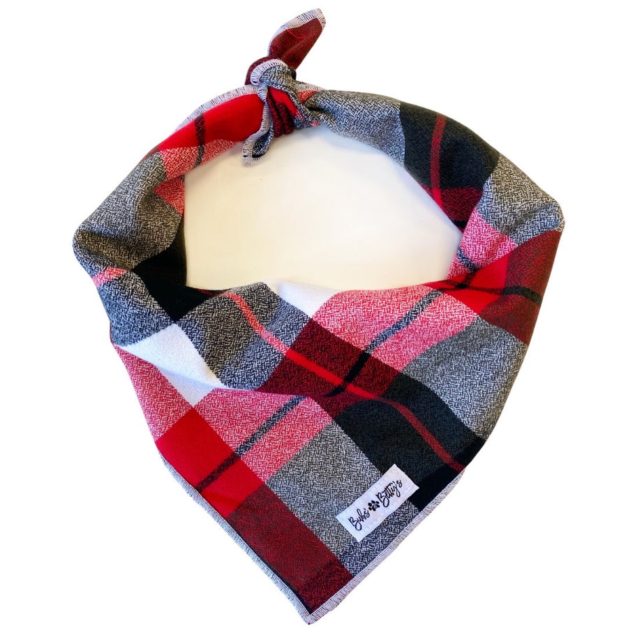Winter Plaid Flannel Dog Bandana