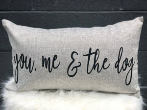 You, Me and the Dog Lumbar Pillow