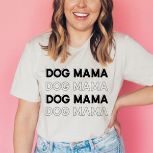 Dog Mama Crewneck Heather Dust T-Shirt