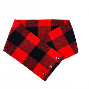 Buffalo Plaid Flannel Cowl Neck Scarf