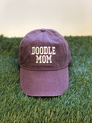 Doodle Mom Canvas Baseball Hat (choice of color)