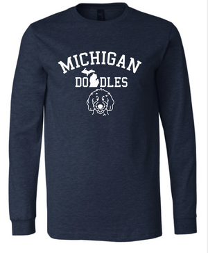 Michigan Doodles Long Sleeve Tee