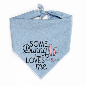 Some Bunny Loves Me Dog Bandana