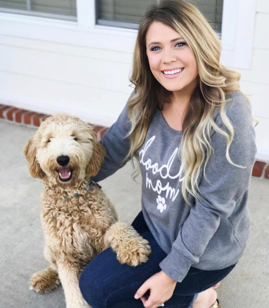Doodle Mom Slouchy Sweatshirt - Customizable