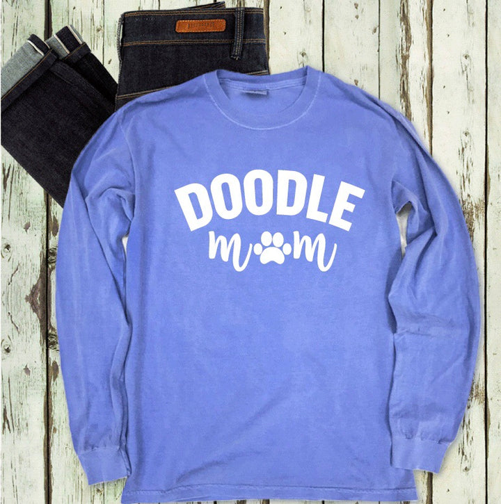 Doodle Mom Comfort Colors Long Sleeve Tee - Customizable