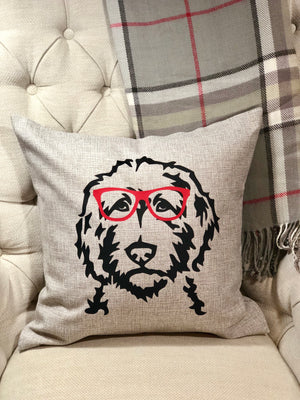 Customized Doodle Face Pillow Cover