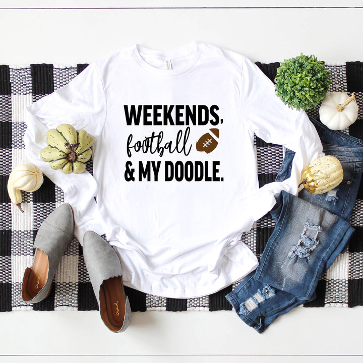 Weekends, Football and My Doodle Long Sleeve Tee