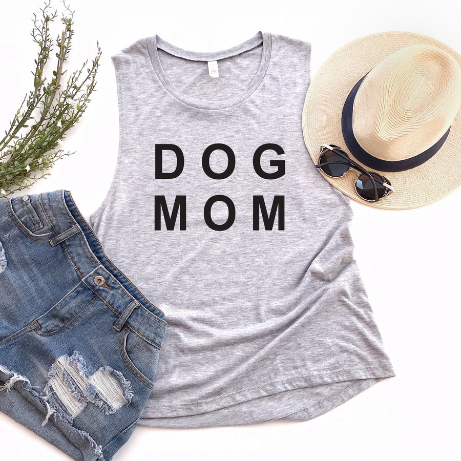 Dog Mom Ladies Muscle Tank