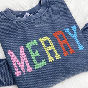 Merry Corded Pullover Sweatshirt