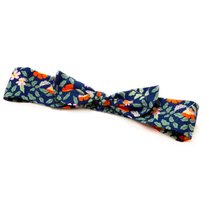Rifle Paper Co Cotton Floral Headbands with bow - Navy Primrose