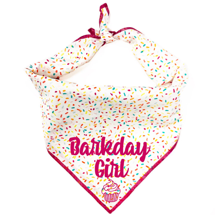 Barkday Girl Dog Bandana