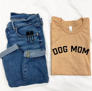 Dog Mom T-Shirt - Sand