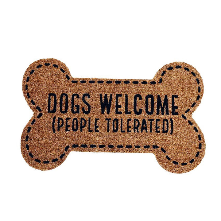 Dogs Welcome People Tolerated Door Mat
