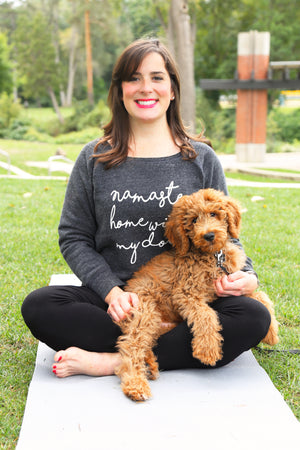 Namaste Home With My Dog Slouchy Sweatshirt