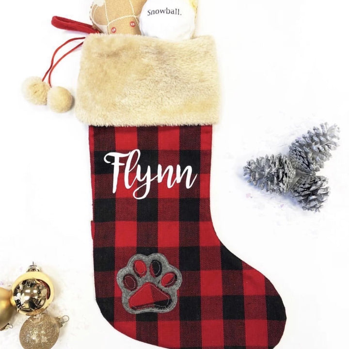 Personalized Buffalo Plaid Stocking