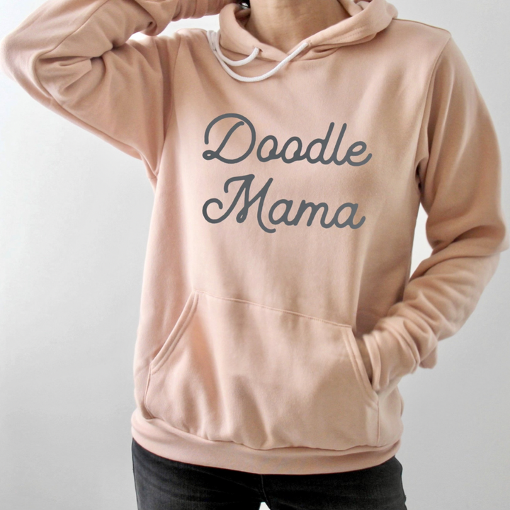 Doodle Mama Peach Hooded Pullover Sweatshirt - PRE ORDER
