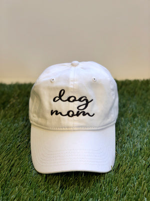 Dog Mom Canvas Baseball Hat (choice of 5 colors)