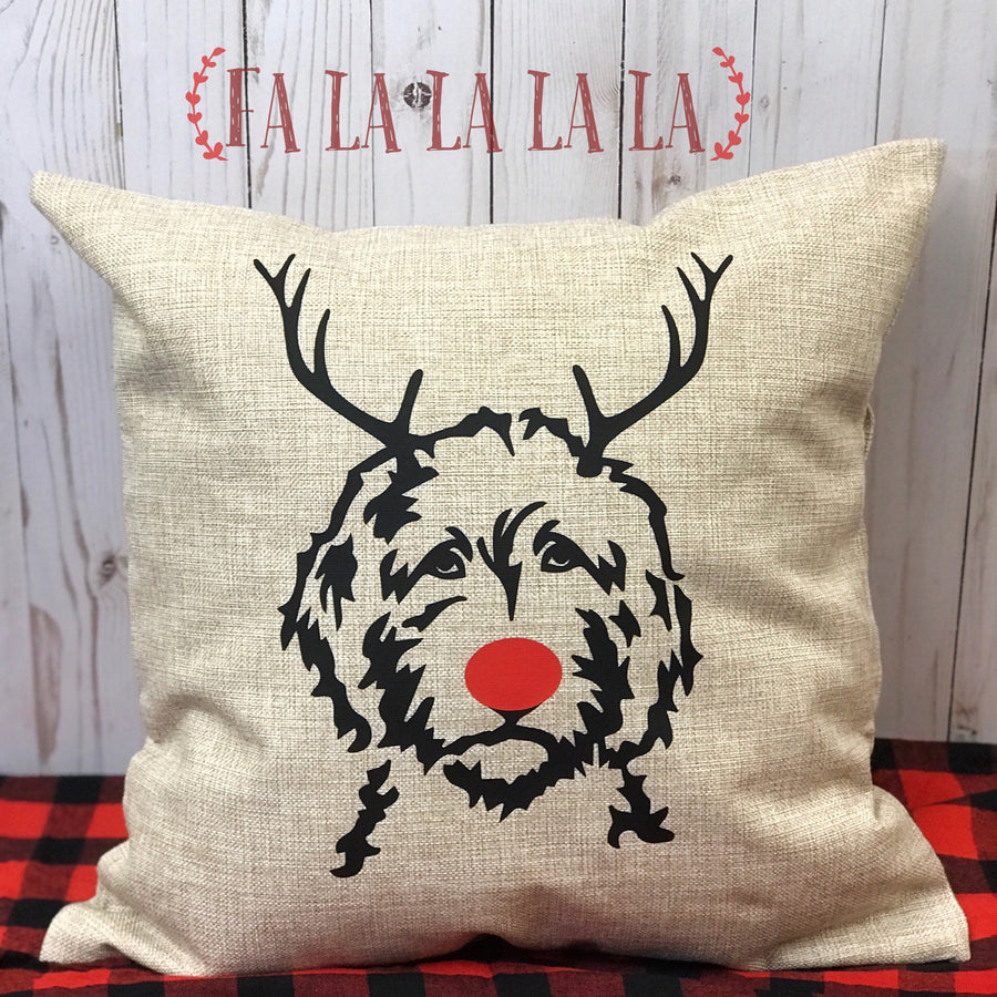 Reindeer Doodle Pillow Cover