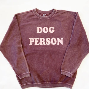 Dog Person Corded Sweatshirt