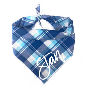 Aqua Madras Dog Bandana