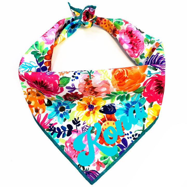 Fresh Blooms Dog Bandana