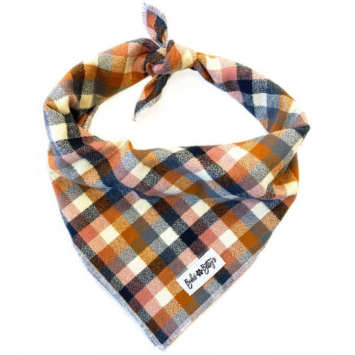 Nutmeg Flannel Dog Bandana