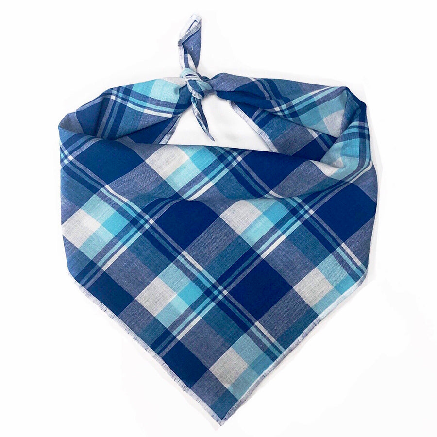 Aqua Madras Dog Bandana - Wholesale