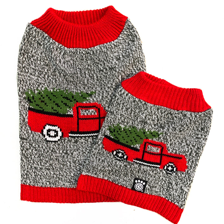 Red Truck Dog Sweater