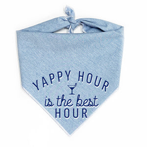 Yappy Hour is the Best Hour Dog Bandana
