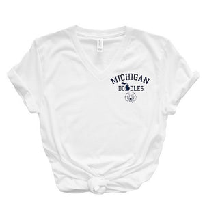 Michigan Doodles V-Neck T-Shirt