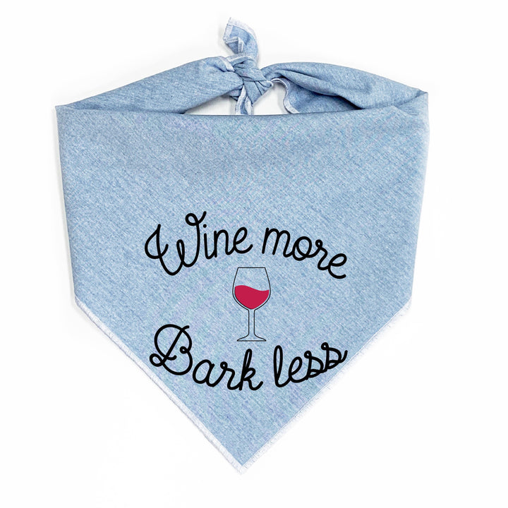 Wine More Bark Less Dog Bandana