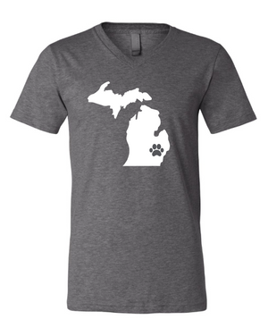 State Pawsome V-Neck T-Shirt - customizable for all states!