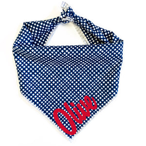 Pawtriotic Gingham Dog Bandana