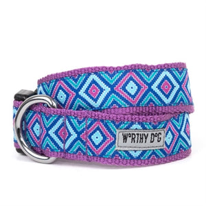 Graphic Diamond Purple Collar