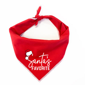 Santa's Favorite Dog Bandana