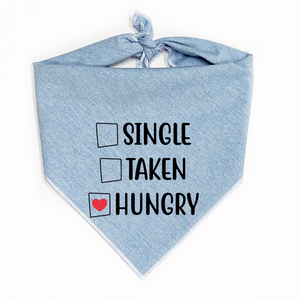 Single Taken Hungry Dog Bandana
