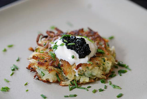 Potato Pancakes with Caviar