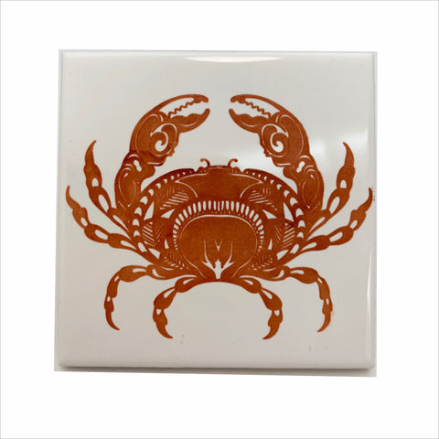 Crab dungeness ceramic coaster
