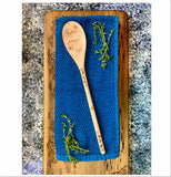 Compass and anchor natural wood spoon serving cooking utensil