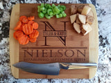 Pacific NW bamboo custom engraved cutting board